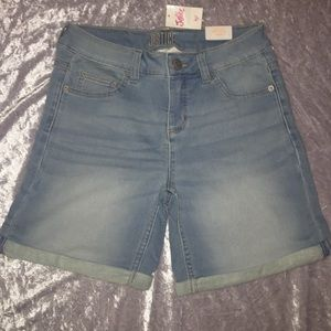 Justice mid-thigh jean shorts